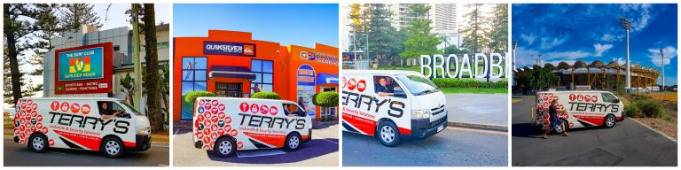 The Terry's Locksmith van out on the road on the Gold Coast